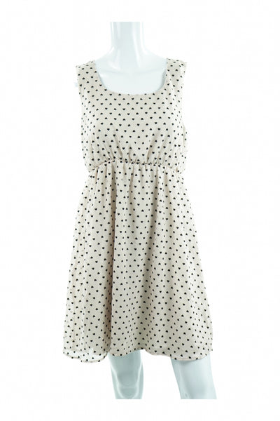 Love Notes, Women's White And Black Dress - Size: M (Regular)