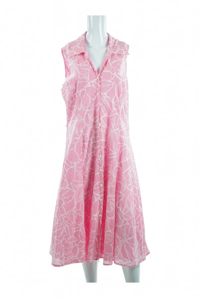 Jones New York, Women's Pink And White Floral Dress - Size: M (Regular)