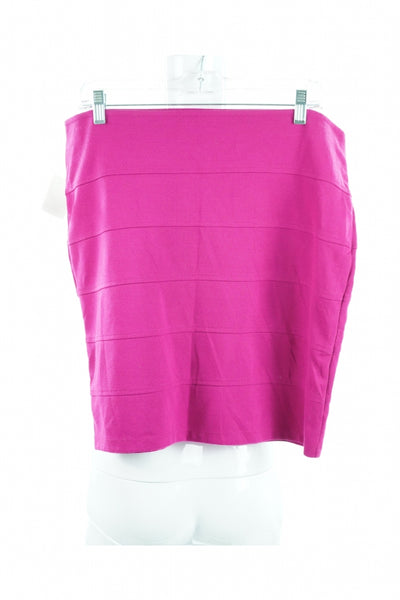 Forever 21, Women's Pink Skirt - Size: XL (Regular)