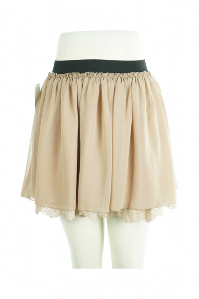 Ardashian Kollection, Women's Beige Mini Skirt - Size: 2 (Regular)