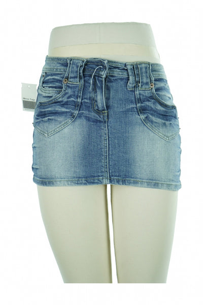 Style, Women's Blue Denim Mini-skirt - Size: S (Regular)