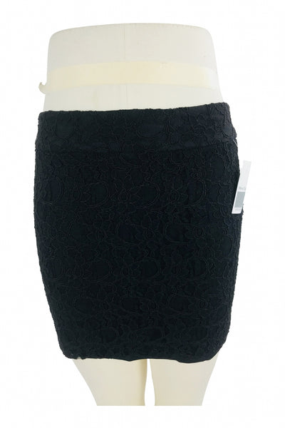 Express, Women's Black Mini Skirt - Size: 4 (Regular)