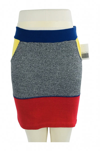 Unbranded, Women's Grey And Red Mini Skirts - Size: 14 (Regular)