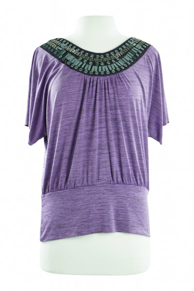 Iz Byer, Women's Purple Blouse - Size: XL (Regular)