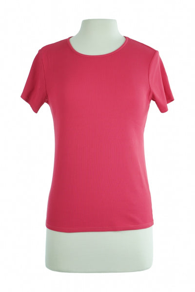 Liz Claiborne, Women's Pink Crew-neck T-shirt - Size: M (Regular)