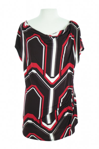 New York & Company, Women's Black, Red, And White Top - Size: XL (Regular)