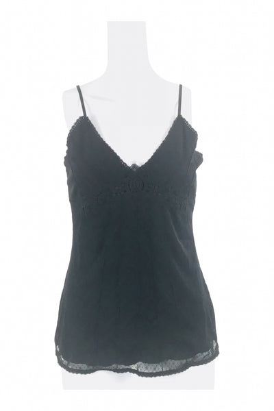 No Boundaries, Women's Black Spaghetti Strap Top - Size: M (Regular)