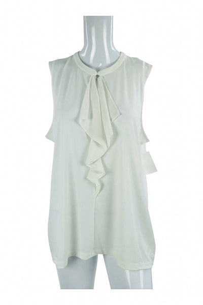 Jones New York, Women's White Sleeveless Dress - Size: XL (Regular)