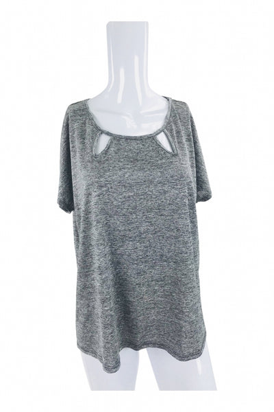Bleeker & McDougal, Women's Gray Scoop-neck Top - Size: XL (Regular)