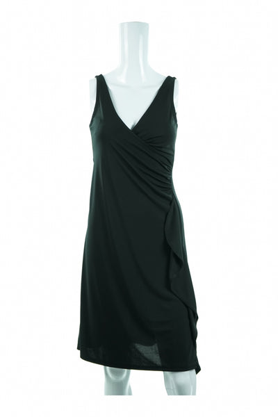 The Limited, Women's Black Plunging Neckline Dress - Size: XS (Regular)