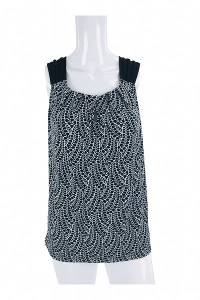 New York & Company, Women's Grey And Black Sleeveless Top - Size: L (Regular)