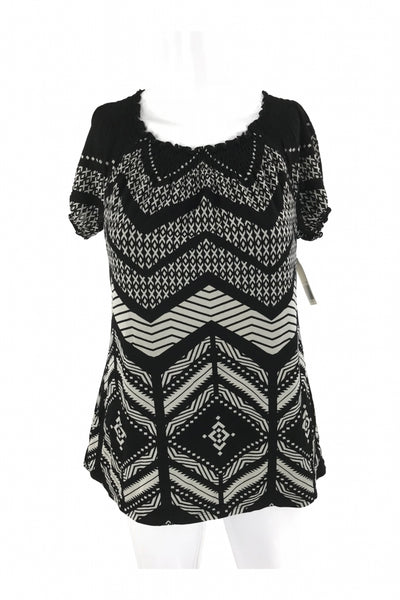 Style&Co, Women's Black And White Top - Size: M (Regular)