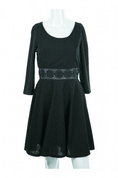 American Rag Cie, Women's Black Long-sleeved Dress - Size: L (Regular)