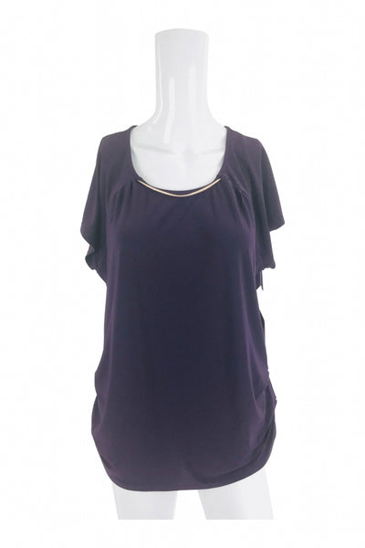 AUW, Women's Purple Top - Size: L (Regular)