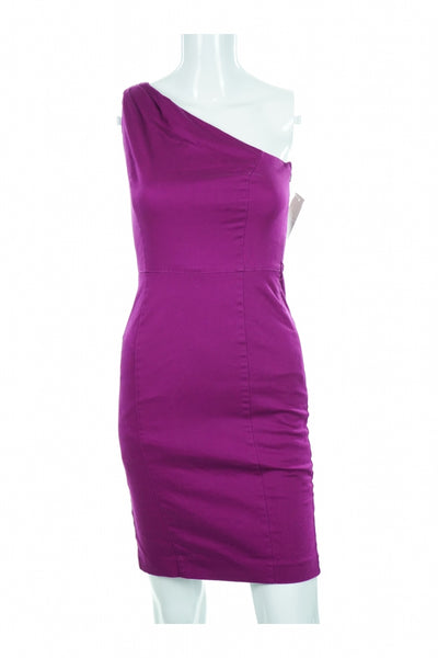 Ware House, Women's Purple One-shoulder Dress - Size: 8 (Regular)