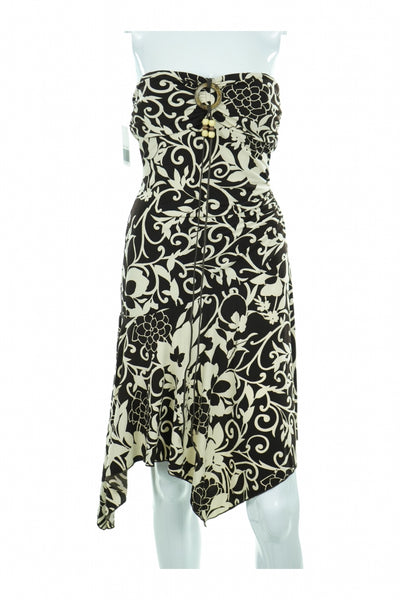 Trixxi, Women's Black And White Floral Dress - Size: S (Regular)