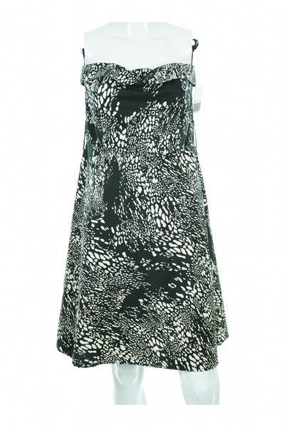 Mkm, Women's Black And White Floral Dress - Size: M (Regular)