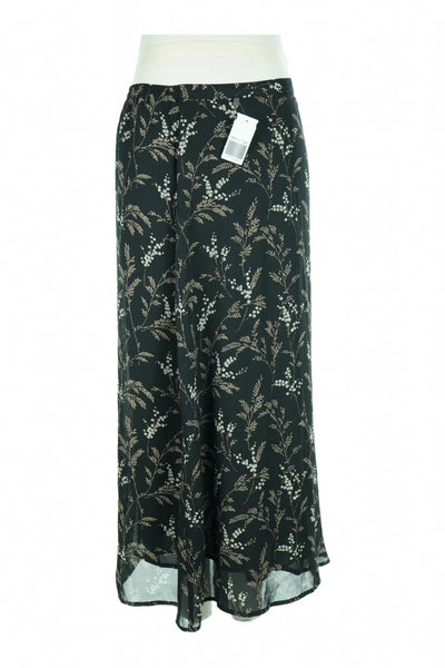AGB, Women's Black And White Floral Skirt - Size: S (Regular)