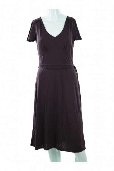 Loft, Women's Black Scoop-neck Dress - Size: 6 (Petite)