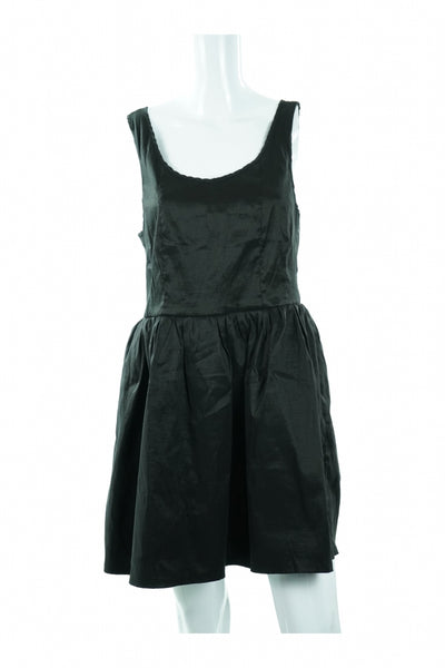 Forever 21, Women's Black Sleeveless Mini Dress - Size: L (Regular)