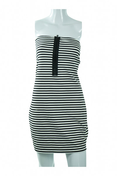 By Guess, Women's White And Black Striped  Dress - Size: XL (Regular)