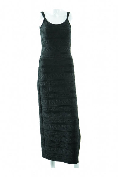 Newport News, Women's Black  Long Sleeveless Dress - Size: 6 (Regular)