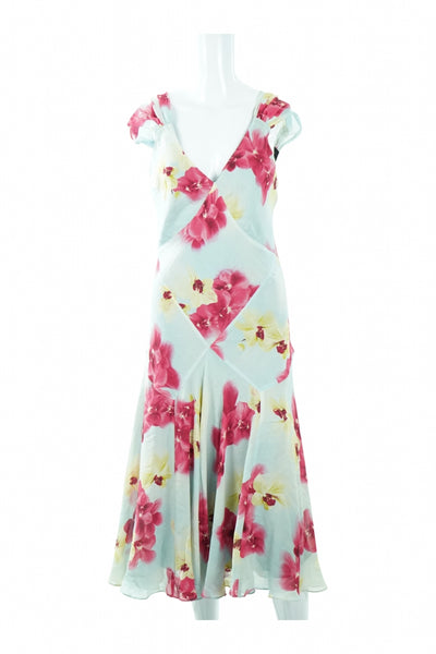 Jones New York, Women's White And Pink Floral Dress - Size: 12 (Regular)