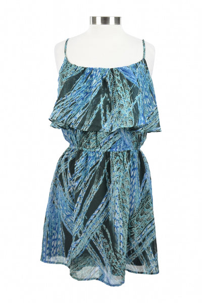 Lili Rose, Women's Blue And Black Spaghetti Strap Dress - Size: XL (Regular)