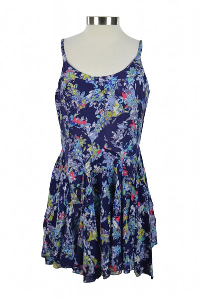 Vintage Havana, Women's Purple And Multicolored Floral Sleeveless Dress - Size: M (Regular)