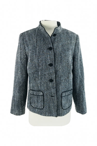 JM Collection, Women's Gray Coat - Size: 8 (Regular)