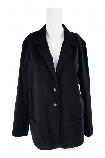 Cathy Daniels, Women's Black Coat - Size: L (Regular)