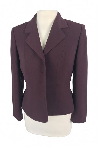 Kasper, Women's Purple Notched Lapel Blazer - Size: 8 (Petite)
