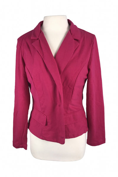 A.n.a. A New Approach, Women's Pink Notched Lapel Blazer - Size: XL (Regular)