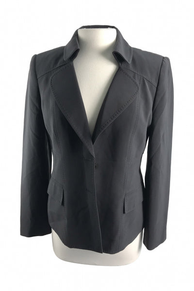 Anne Klein, Women's Black Blazer - Size: 8 (Regular)