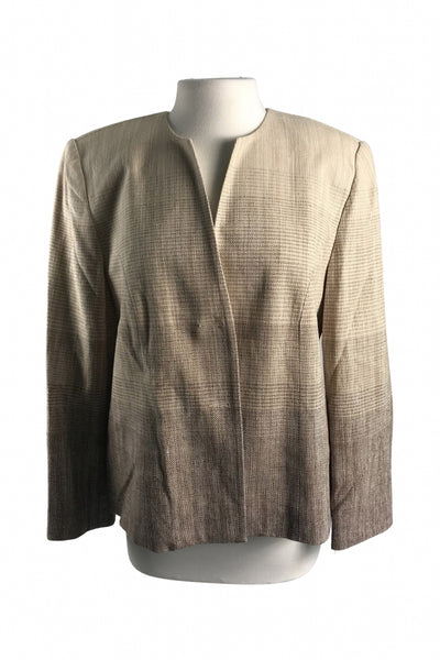 Alfred Dunner, Women's Brown  Jacket - Size: 14 (Petite)
