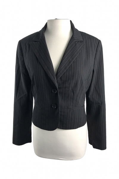 Express Design Studio, Women's Black Blazer - Size: 10 (Regular)