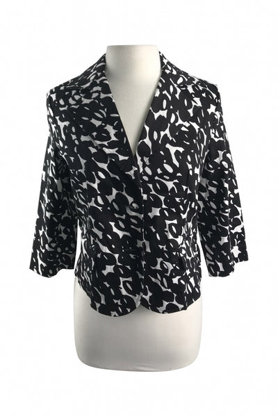 Notations, Women's Black And White Blazer - Size: S (Regular)