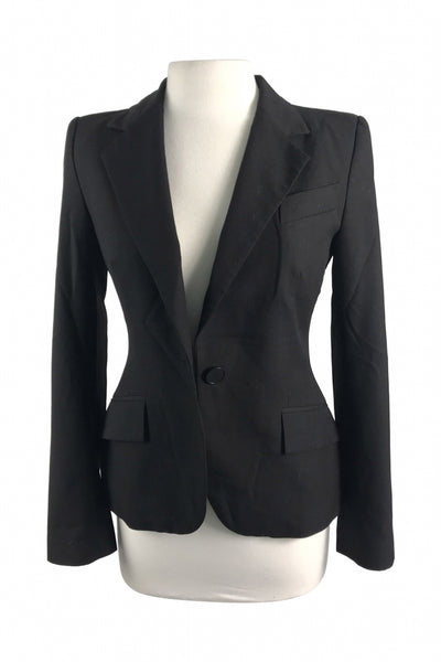 Zara, Women's Black Button-up Blazer - Size: 4 (Regular)