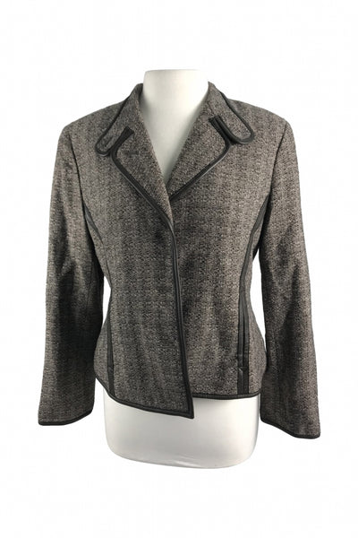 Jones New York, Women's Brown Jacket - Size: 12 (Petite)