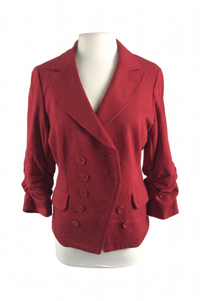 INC International Concepts, Women's Red Double-breasted Blazer - Size: L (Regular)