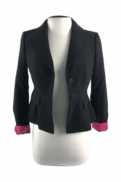 Ann Taylor, Women's Black Suit Jacket - Size: 0 (Regular)
