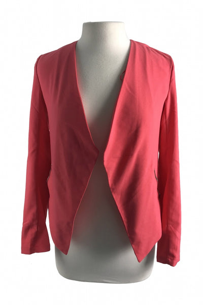 Divided By H&M, Women's Orange Blazer - Size: 4 (Regular)
