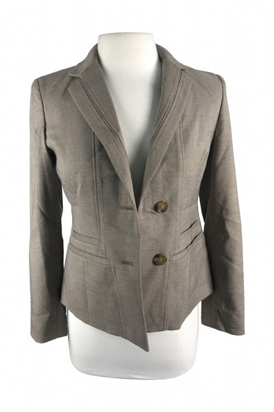 Anne Klein, Women's Brown 2-buttons Suit Jacket - Size: 6 (Petite)