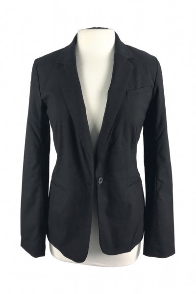Massimo, Women's Black Notched-lapel 1-button Suit Jacket - Size: S (Regular)