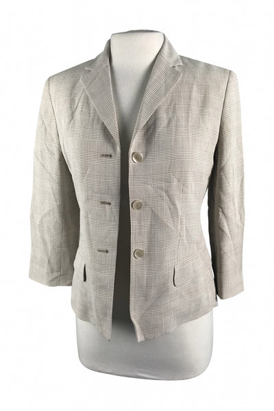 Casual Corner, Women's Brown 3-button Blazer - Size: 4 (Regular)