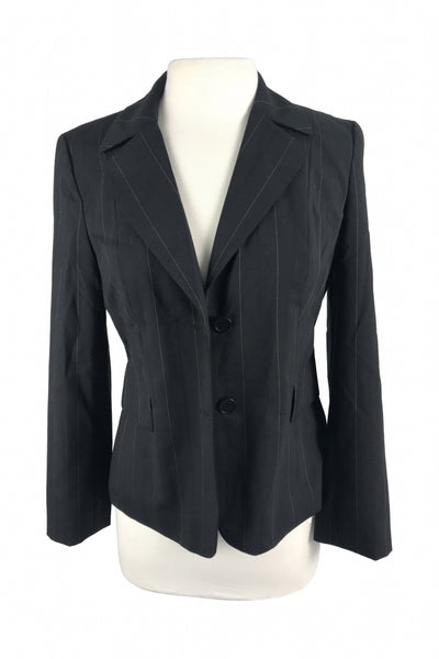 Loft, Women's Black 2-button Suit Jacket - Size: 6 (Petite)