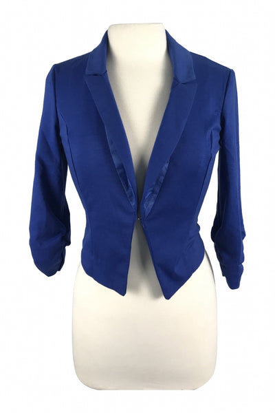 Deb, Women's Blue Notched Lapel Blazer - Size: S (Regular)