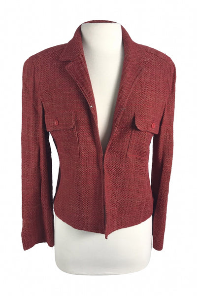 Jones New York, Women's Red Blazer - Size: 8 (Regular)