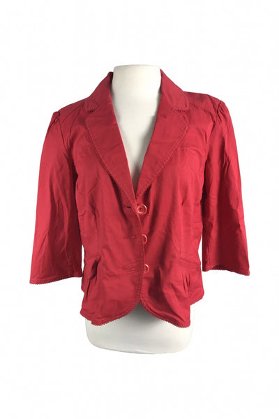 Sonoma, Women's Red Button-up Notched Lapel - Size: XL (Regular)