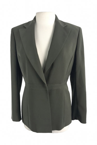 Le Suit, Women's Gray Trench Coat - Size: 8 (Regular)